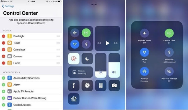 unnamed-4-1 This Jailbreak returns the iOS 10 Control Center to iOS 11 Technology