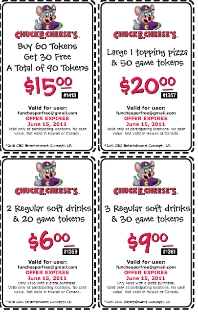 How to use a Chuck E. Cheese's coupon