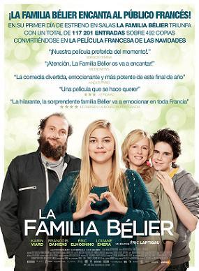 carátula de la película La familia Bélier