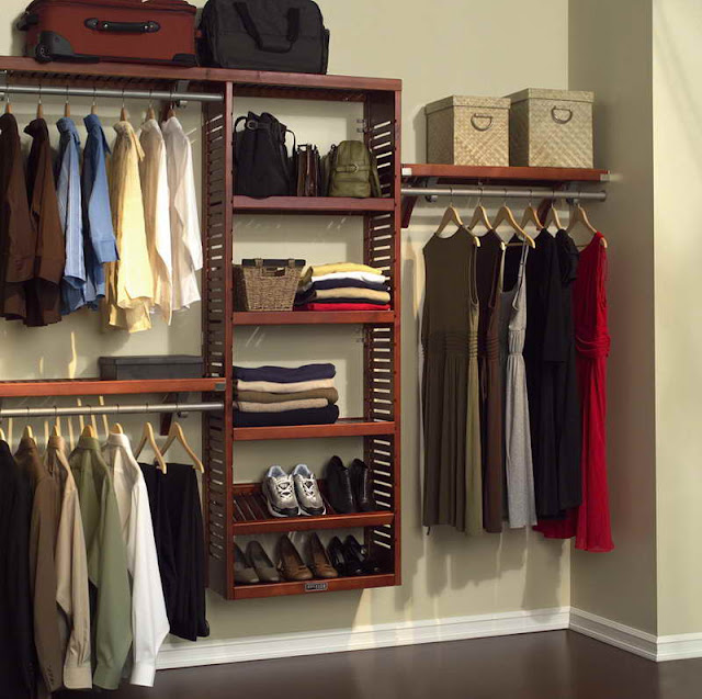 unique wood closet systems design ideas