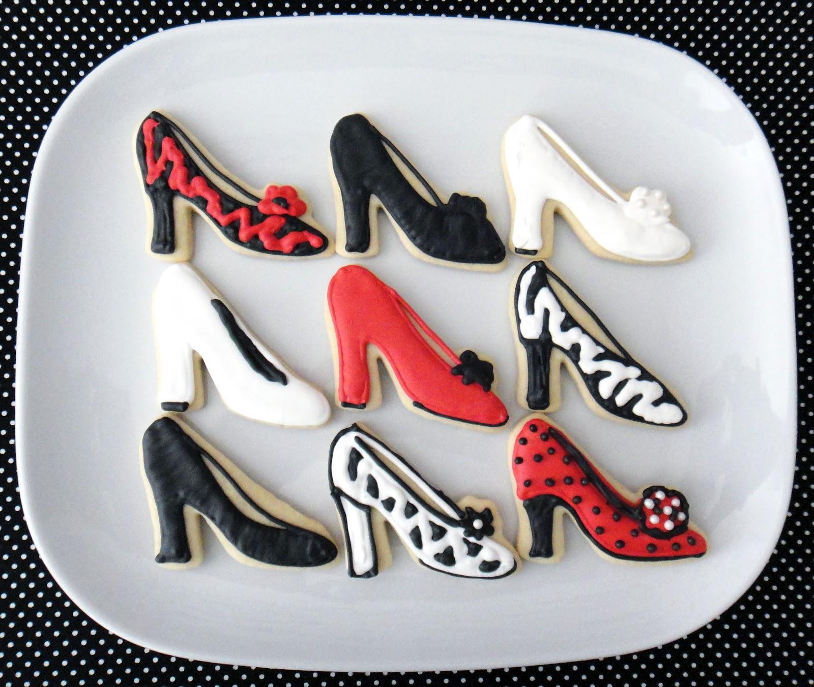 Decorate High Heel Shoe Cookies