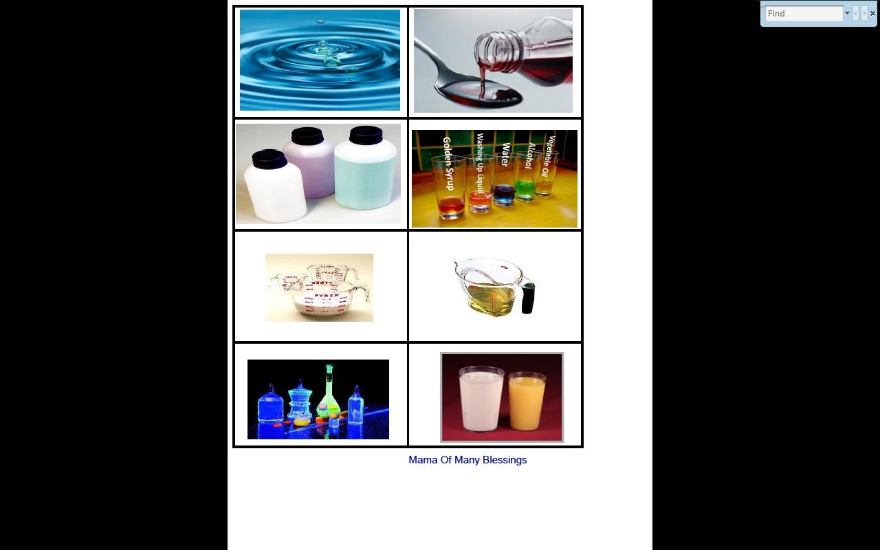 Solid Liquid Gas Unit Liquids