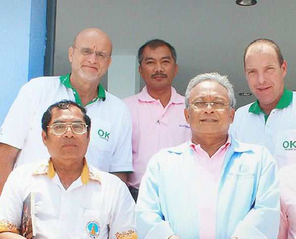 Norbert to left with aide Meepian top second left- front centre Suthep of course
