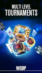 Screenshots of the World Series of Poker for Android tablet, phone.
