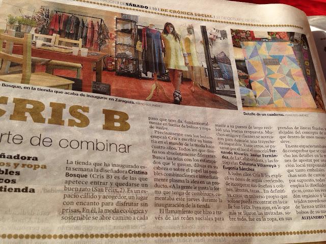 CrisB Moda ecológica Heraldo de Aragón