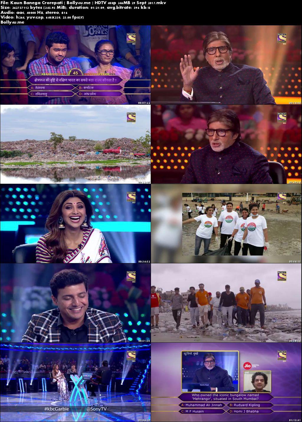 Kaun Banega Crorepati HDTV 480p 350MB 29 Sept 2017 Download
