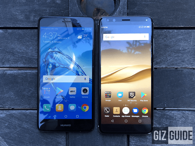 Huawei Y7 Prime vs Cherry Mobile Flare S6 Plus Specs Comparison