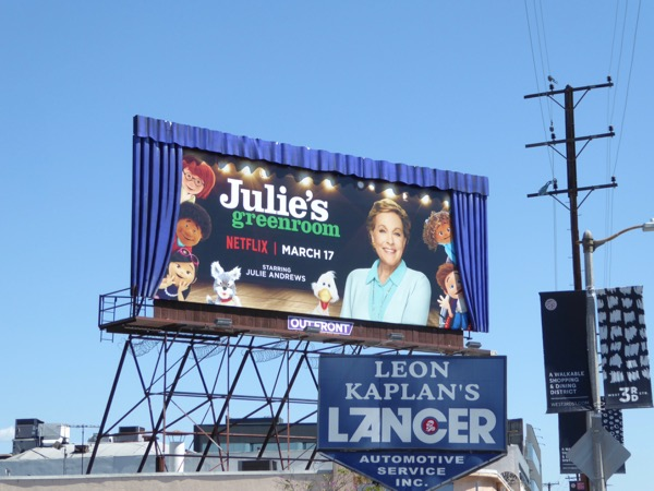 Special Julies Greenroom series 3D billboard