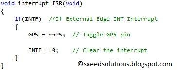 PIC12F675 external interrupt code + Proteus simulation
