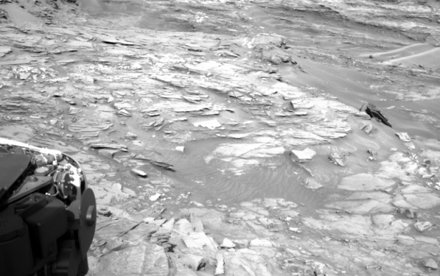 A piece of unusual debris or relic on Mars discovered by the Rover.