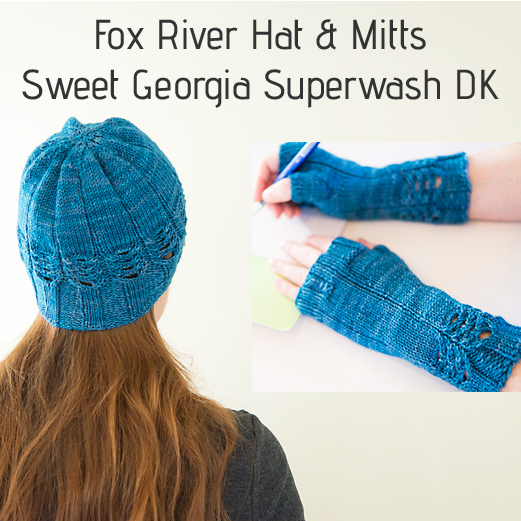 Knitting like crazy 012017 my first pattern well patterns for 2017 is here this is the fox river hat and mitt set published by sweet georgia yarns fandeluxe Gallery