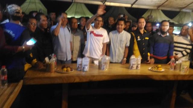 Sandiaga Uno Kunjungi Telaga Kuliner Sawangan