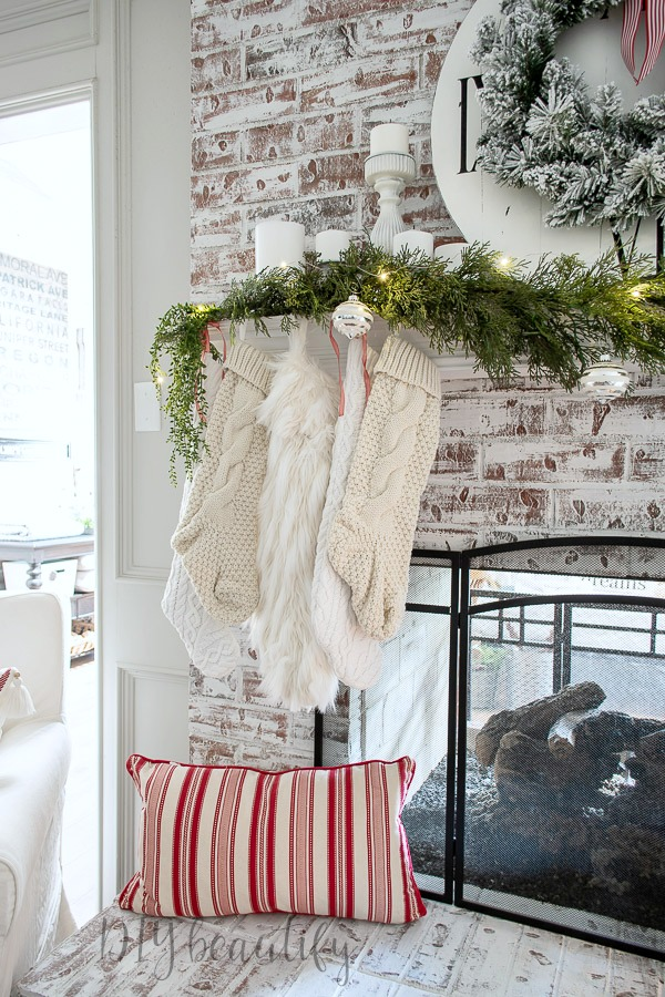 neutral mantle with white stockings
