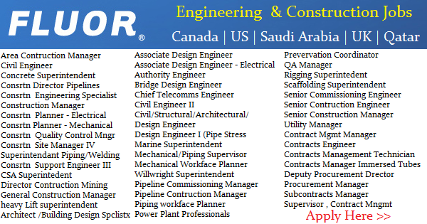 Engineering & Construction Jobs at Fluor | Canada | US