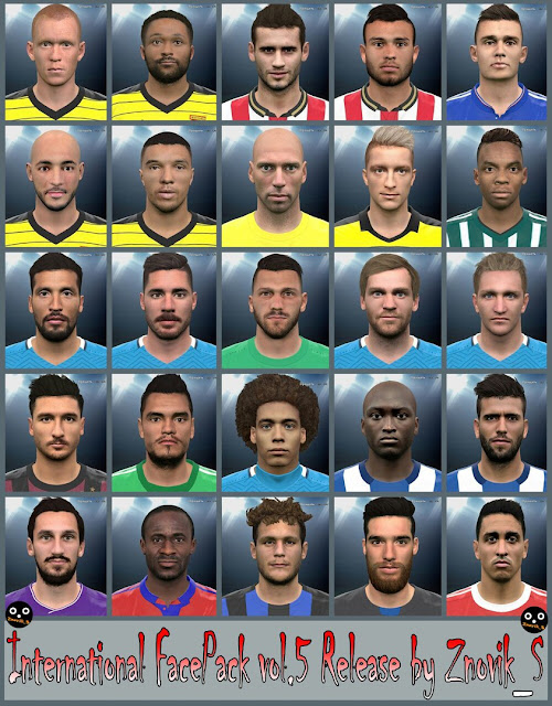 PES 2016 International FacePack vol.5 by Znovik_S