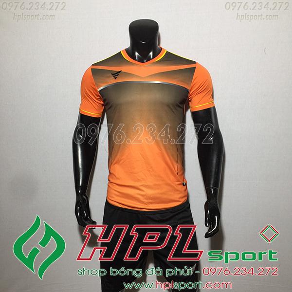 Áo bóng đá không logo TA Eco màu cam