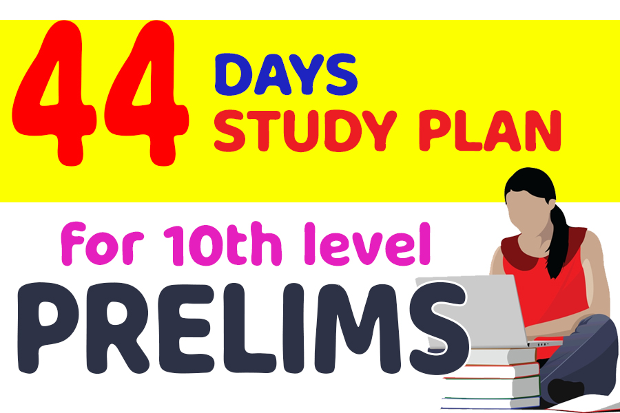 44 Day Study Plan for Kerala PSC Prelims