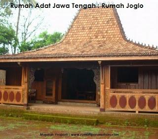 Desain Bentuk Rumah Adat Jawa Tengah dan Penjelasannya, Rumah Adat Joglo