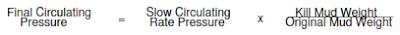 driller method - final circulation pressure