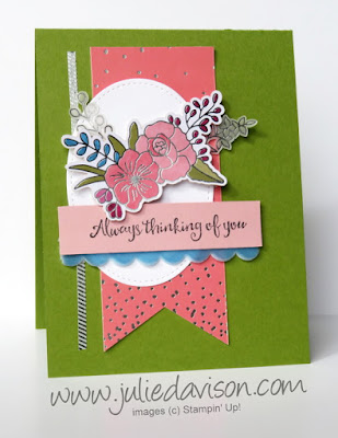 Stampin' Up! Sweet Soiree Embellishment Kit: Thinking of You Card ~ 2018 Occasions Catalog ~ www.juliedavison.com