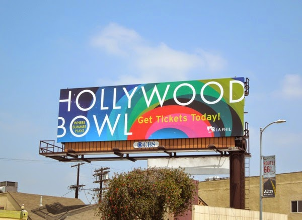 Hollywood Bowl 2014 season billboard