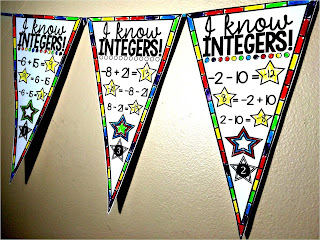 Adding and subtracting integers pennant