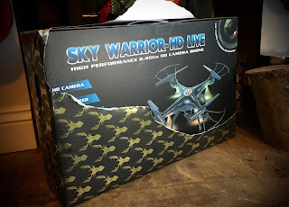 Unwrapped Drone christmas gift