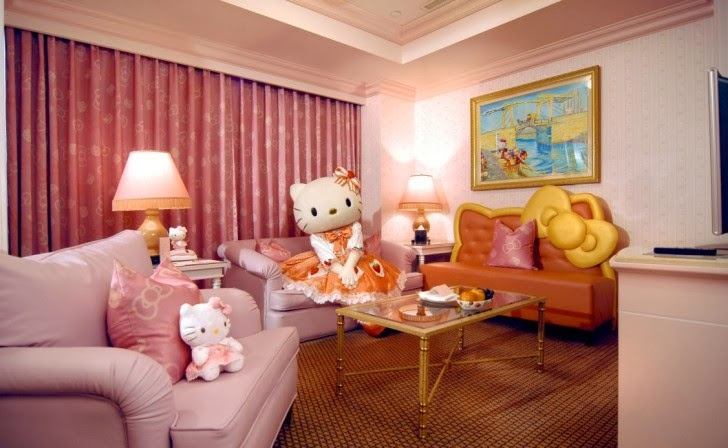 appealing hello kitty living room | Decoration and Ideas: Decorating Living Rooms Inspired by ...