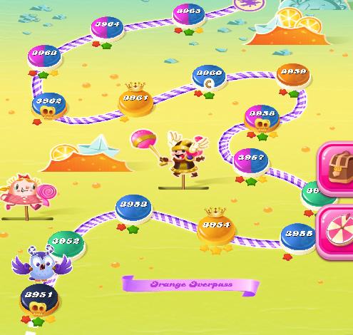 Candy Crush Saga level 3966-3980
