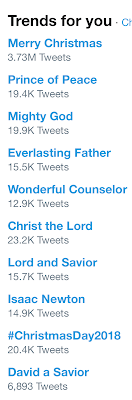 Twitter s trends for me today are mostly Christmas-y.