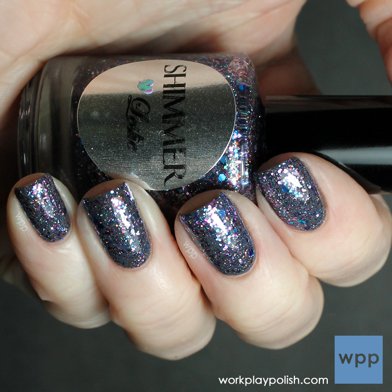 Shimmer Polish Leslie over Zoya Kelly (work / play / polish)