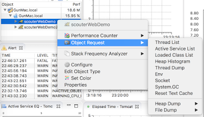 context menu for scouter's object request
