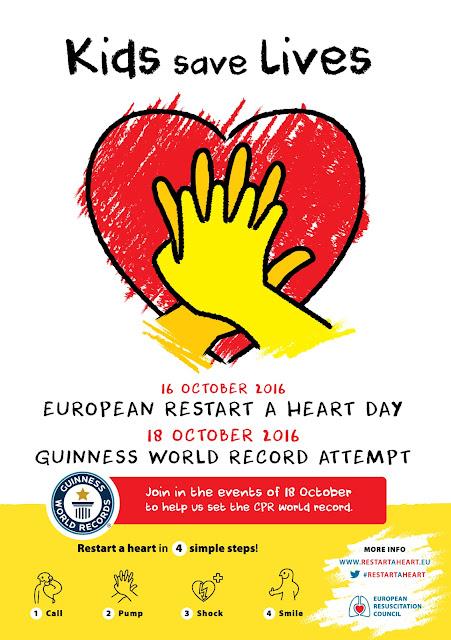 16 de octubre, Día Europeo de RCP(European Restart a Heart Day)