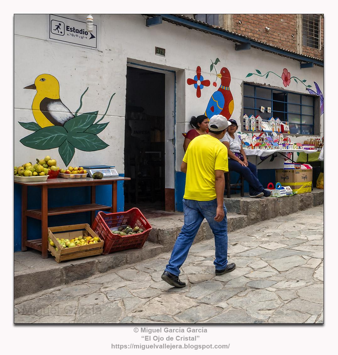 Antioquía, Perú.- Caminante en amarillo.