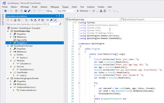 Implémentation du DDD en C#