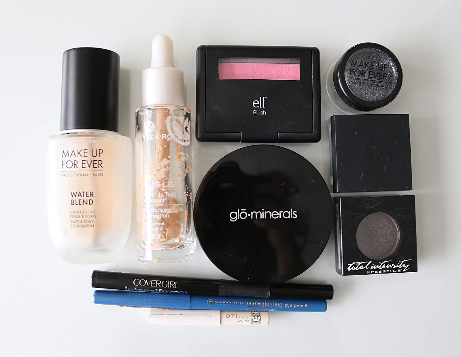 empties make up for ever yves rocher glo  skin beauty e.l.f. prestige sothys covergirl essence rimmel