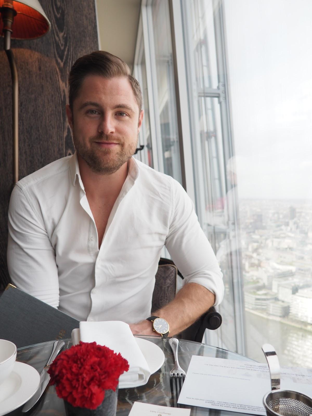 The Gentleman at Afternoon Tea at GONG Bar at the Shangri La at The Shard