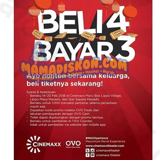 Promo Cinemaxx Beli 4 Bayar 3 Tiket Katalog Promo Diskon Murah