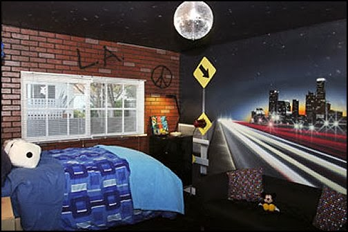 Urban Theme Bedroom Ideas   Urban Bedrooms   Urban Skater Theme   Urban  Style Decorating Skateboarding