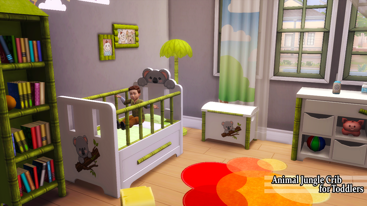 Animal Jungle Crib For Toddlers Enure Sims