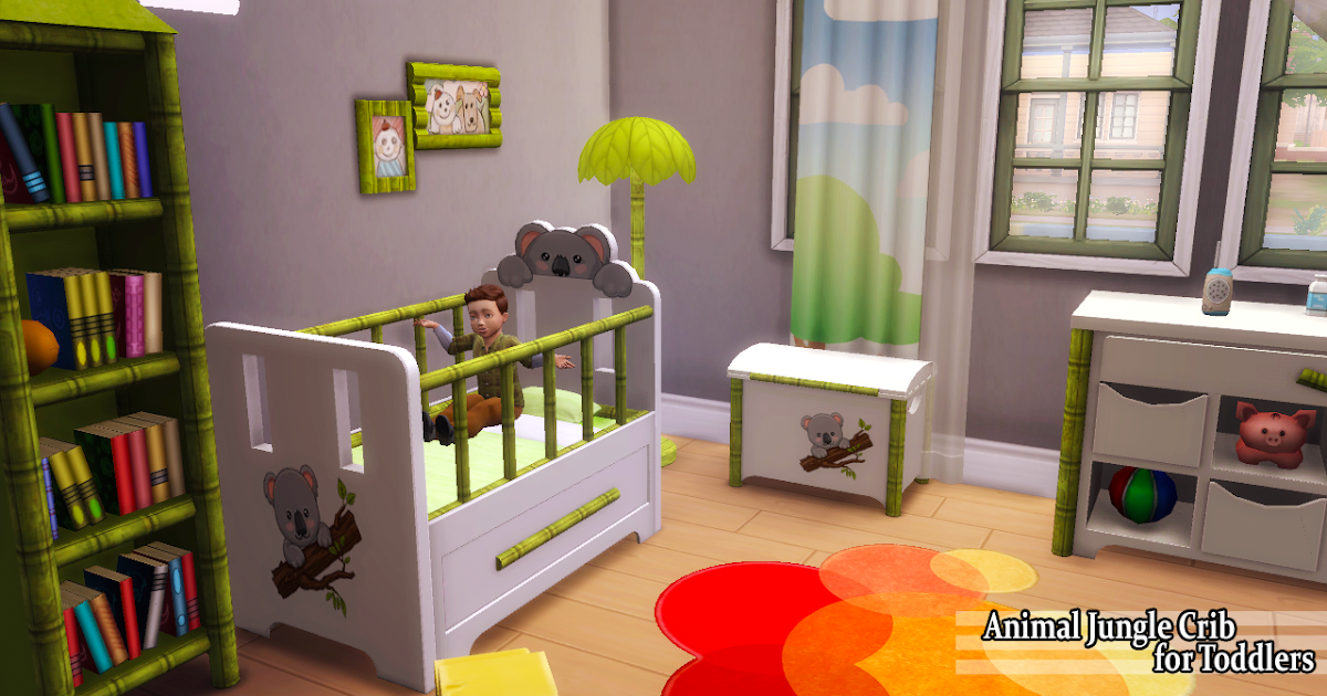 Enure Sims Animal Jungle Crib For Toddlers