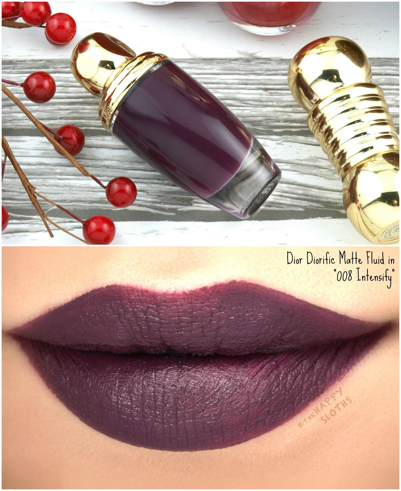 """Dior Holiday 2017   Diorific Matte Fluid in """"008 Intensify"""": Review and Swatches"""