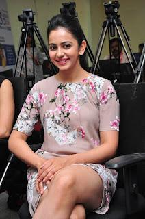 Actress Rakul Preet Singh Latest Stills in Floral Dress at Infinity Ride 2016 Curtain Raiser Pressmeet  0035.jpg