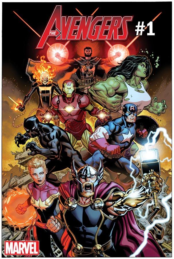 "Portada del nuevo ""Avengers"" núm.1 de Jason Aaron y Ed McGuinness - Marvel Comics"