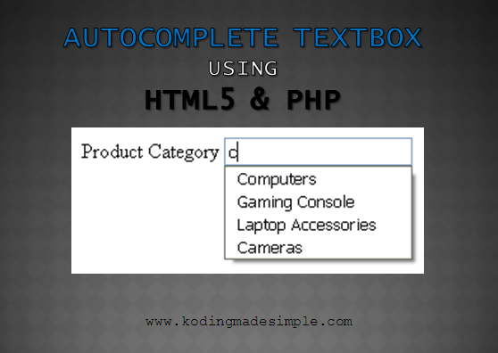 Autocomplete Textbox using HTML5 Datalist, PHP and MySQL Example