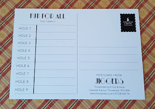 Scorecard from Jiggers Miniature Golf at Thorpeness Golf Club & Hotel