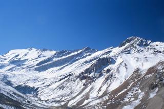 Blick auf Cerro el Plomo und Cerro Bismarck