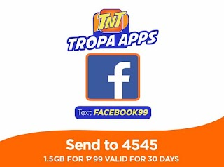 Talk N Text FACEBOOK99 Promo – 30 Days FB Access for only 99 Pesos