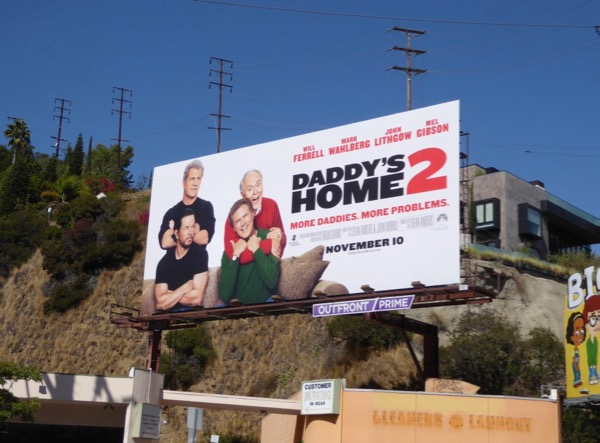 Daddys Home 2 movie billboard