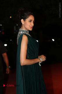 Actress Pragya Jaiswal Stills in Green Long Dress at Gemini TV Puraskaralu 2016 Event  0036.JPG